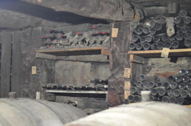 historic bottlings in the historic cellar