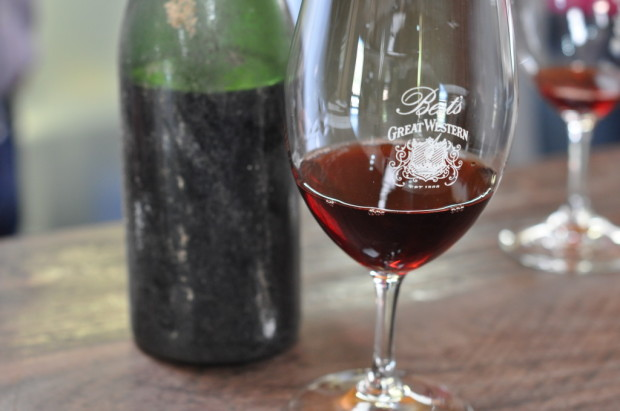 A bottle of 1976 vintage Pinot Meunier from 1876 vines, still intact