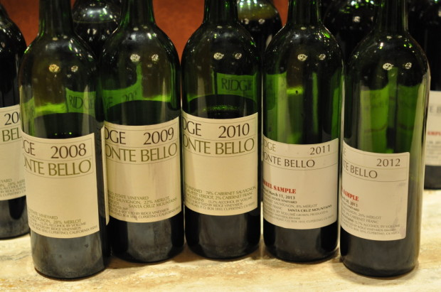 Ridge Monte Bello Barrel Samples