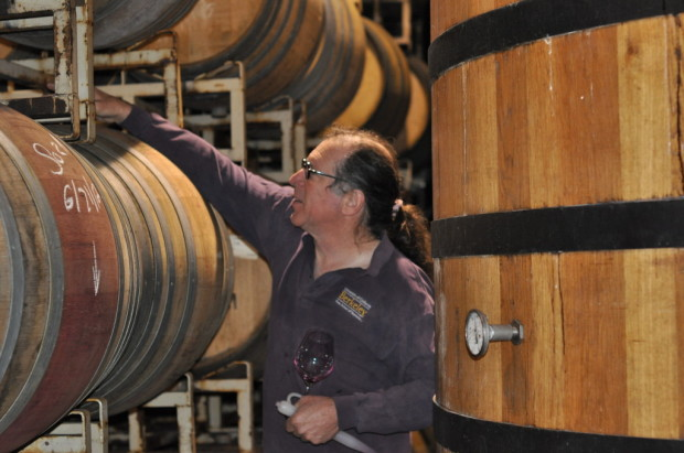 Barrel tasting with Randall Grahm