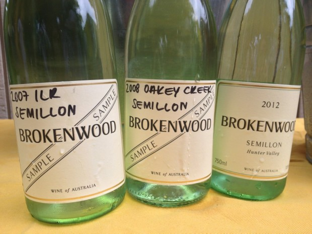 Three vintage vertical of Brokenwood Semillon