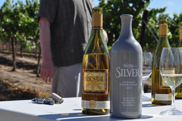 Tasting Mer Soleil and Silver Vineyard side