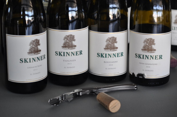 tasting through Skinner's Rhone whites
