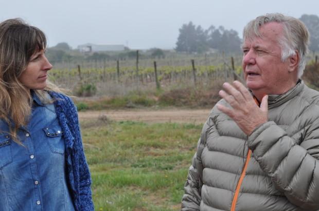 Alfredo Bartholomaus with Viviana Navarrete, Leyda Wine