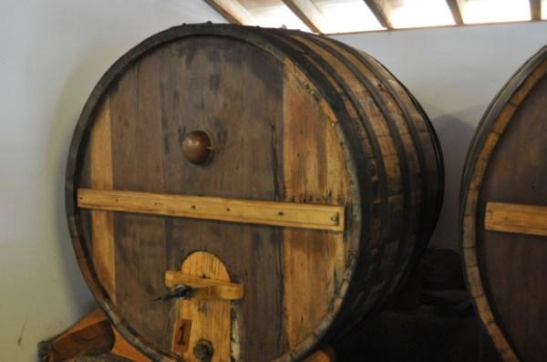 1906 beer casks at Quinta da Val Boa