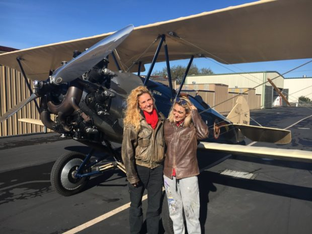 Getting ready for the biplane flight