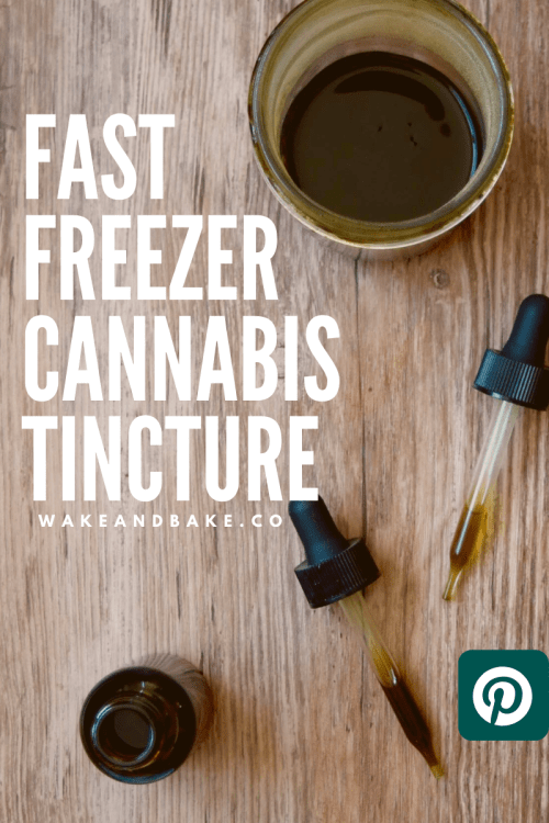 fast cannabis tincture recipe