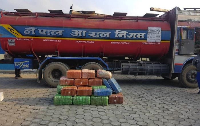 Nepali Narc Cops Nab 295 Kilos of Hash Hidden In Oil Tanker Truck