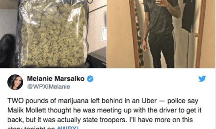 Uber Narc Snitch – Pennsylvania Man Arrested After Leaving Two Pounds of Weed in an Uber