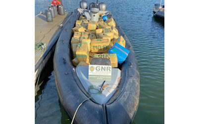Portugal: Nearly four tons of hashish seized in Guadiana River drug bust