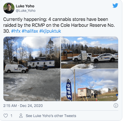 Canada: Police raid 5 'unlicensed' cannabis sellers in Cole Harbour, N.S.