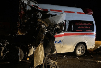 Pakistan: 135kg hashish recovered from Quetta ambulance after accident