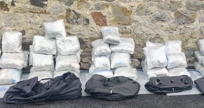 Ireland: Two held as gardaí seize cannabis worth €1.2m in raids against organised crime