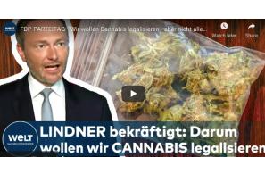 """Germany: """"Wir wollen Cannabis legalisieren – aber nicht alle Drogen!"""" – Christian Lindner"""