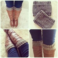 Free Pattern: Knitted Boot Cuffs//Revised Version
