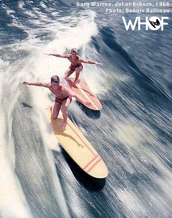 Gary Warren & Joker Osborn wakesurfing at Cypress Gardens -History of wake surfing