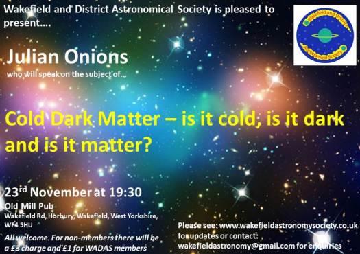 Julian Onions: Cold Dark Matter Flyer