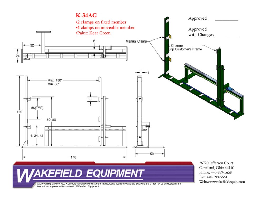 Assembly Rack With Clamps