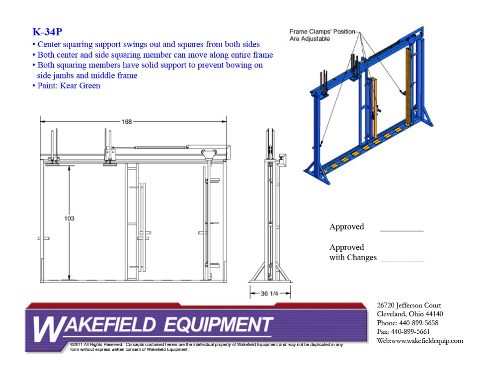 Casement Assembly Rack With Center Swing Out CAD