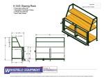 Glazing Rack W Pneumatic Clamps CAD