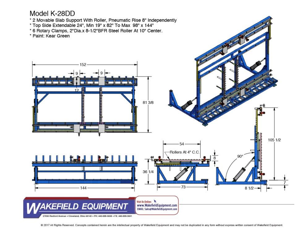 Oversized Door Assembly Rack W Pneumatic Tilt CAD