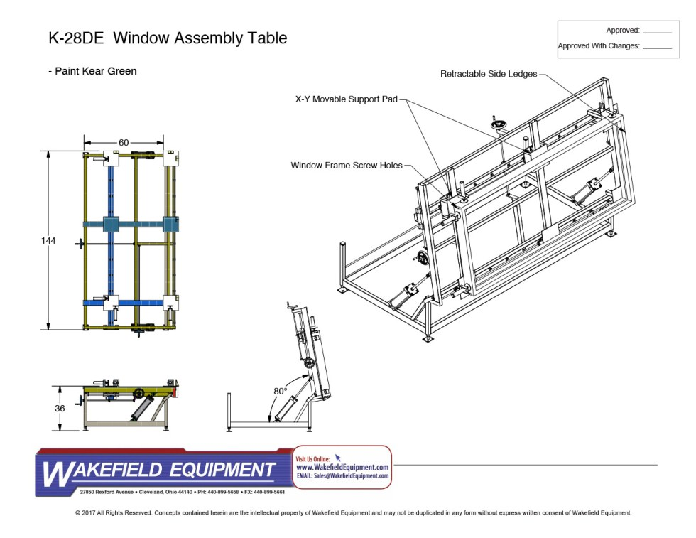 Tilt Assembly Table With Clamps CAD