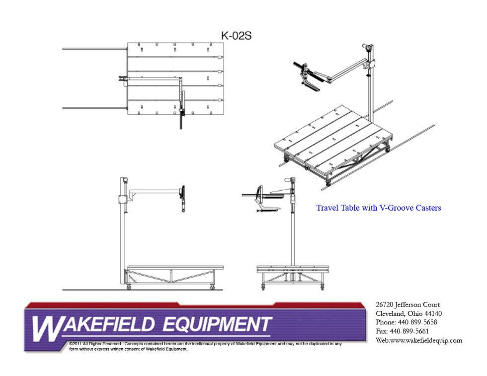 Glass Cutting Travel Table CAD