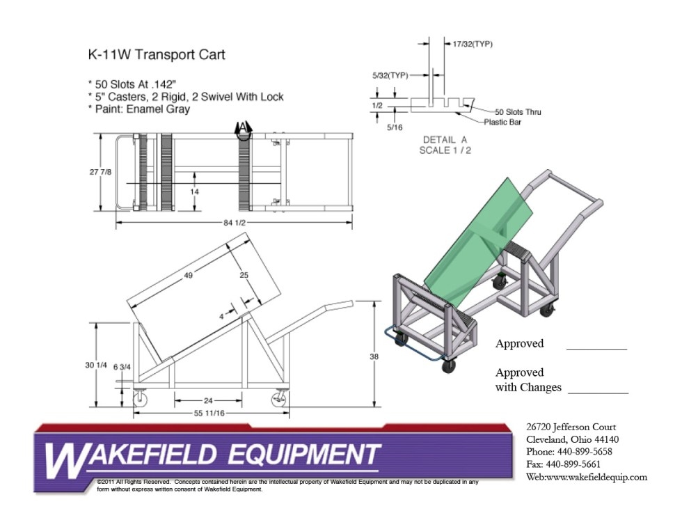 Panel Transport Cart CAD