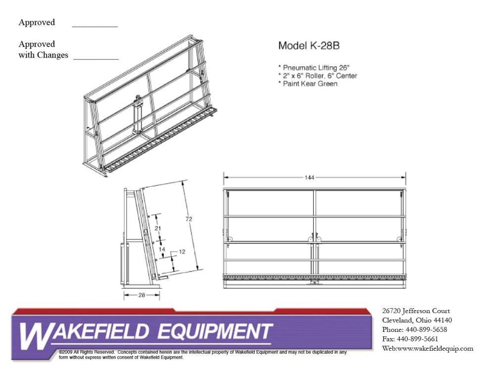 Vertical Transfer Conveyor – Pneumatic Lift
