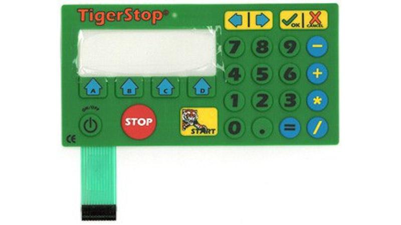 #CON5KPM – TigerStop Controller Keypad Membrane