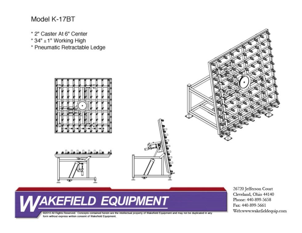 Caster Sealing Table Tilting