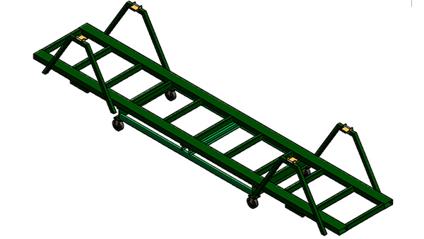 Collapsible Extrusion Shipping Racks