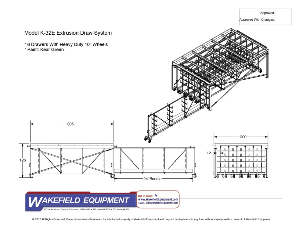 Extrusion drawer storage system wakefield equipment Cad system