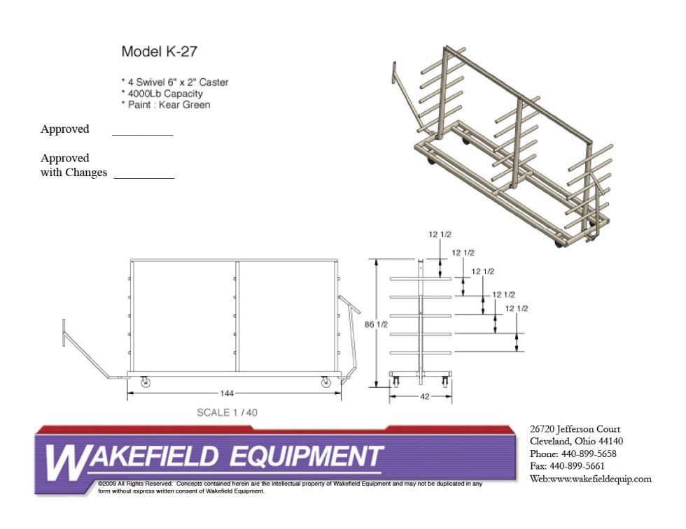 Extrusion Storage Rack Mobile CAD2