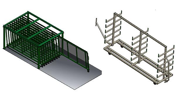 Glass & Extrusion Storage
