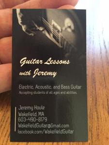 Guitar Lessons with Jeremy Business Card