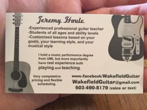 Jeremy's Business Card