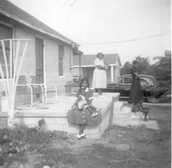 Geraldine and baby in 1956 jpeg