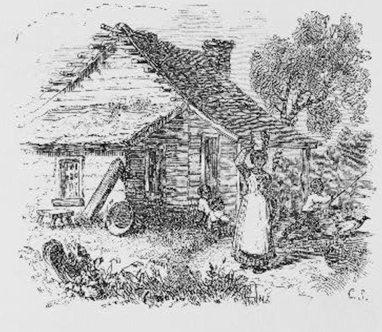 Period Drawing, Library of Congress, ca. 1840