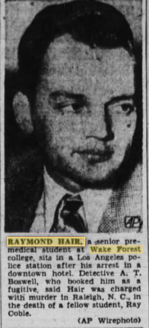 Raymond Hair - January 1950