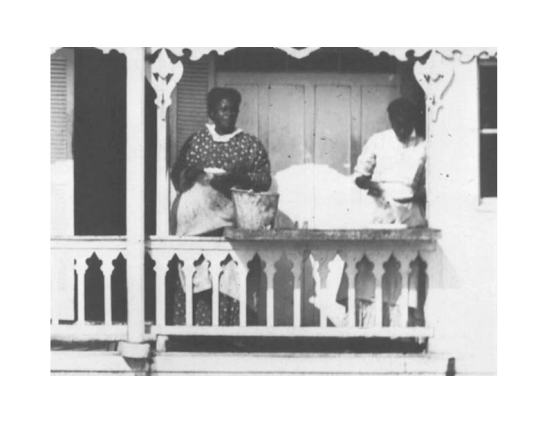 Photograph of chambermaids.