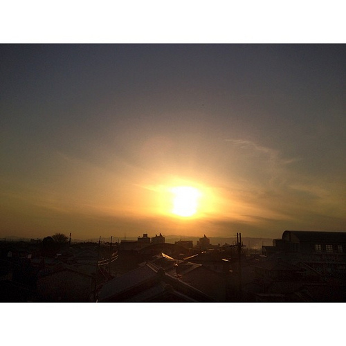 いま空…  今日も(_´Д`)ノ~~オツカレー #sunset #iphonography #instagram #iphone4s