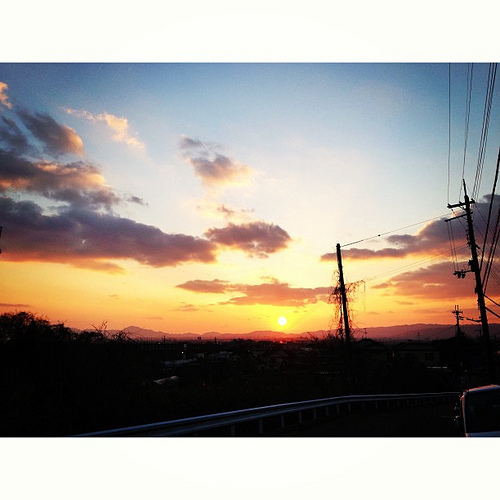 夕暮れ…  #iphonography #instagram #iphone5