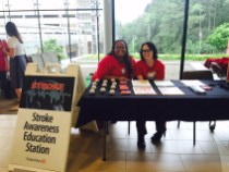 WakeMed employees educate the public about stroke