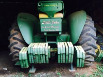 One of several tractors, owned by Joe Montague