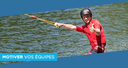 Wake Park Plessé - Incentive & Team Building : motivez vos collaborateurs et clients avec des activités ludiques et pédagogiques au téléski nautique de Buhel