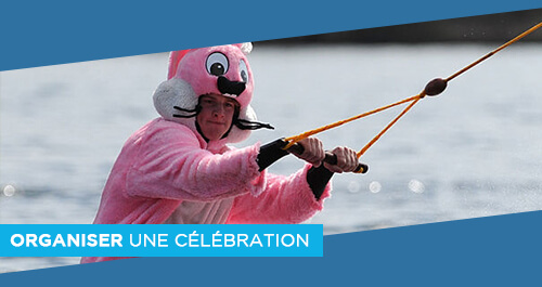 Wake Park Plessé - cousinade, anniversaire, enterrement de vie de garçon : le téléski nautique de Buhel vous propose des animations ludiques et sportives