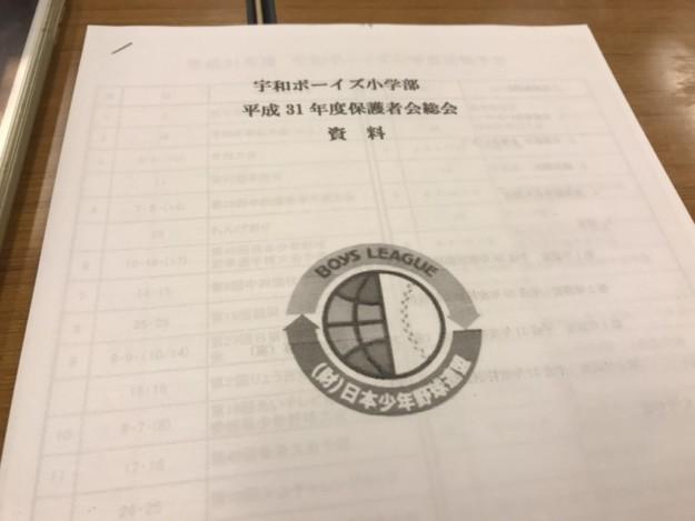 宇和ボーイズ小学部、平成31年度保護者総会が無事に終了!