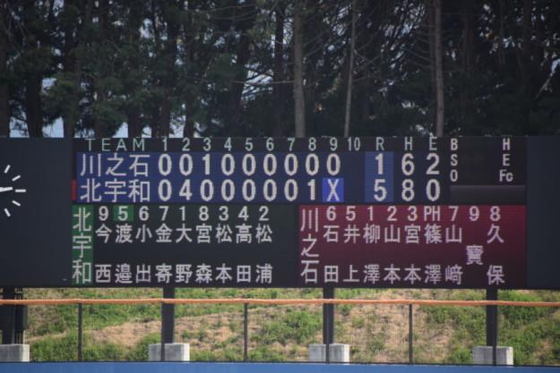 川之石-北宇和(2019年度春季愛媛県大会・南予地区予選・1回戦)