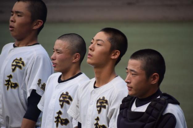 今年の宇和高校野球部3年生はたった3名で頑張ってきました!